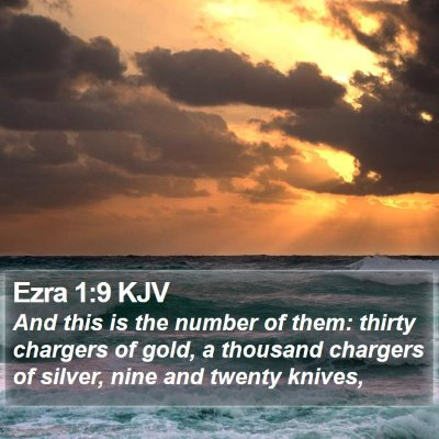 Ezra 1:9 KJV Bible Verse Image