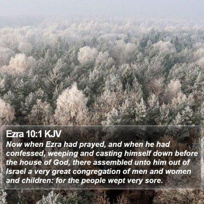 Ezra 10:1 KJV Bible Verse Image