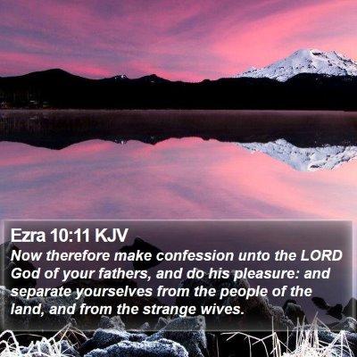 Ezra 10:11 KJV Bible Verse Image