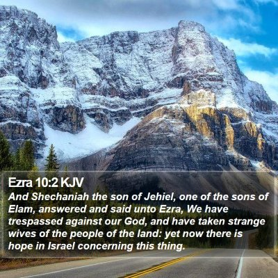 Ezra 10:2 KJV Bible Verse Image