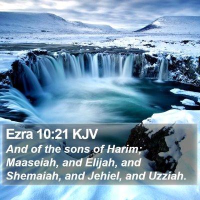 Ezra 10:21 KJV Bible Verse Image