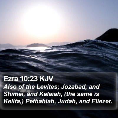 Ezra 10:23 KJV Bible Verse Image