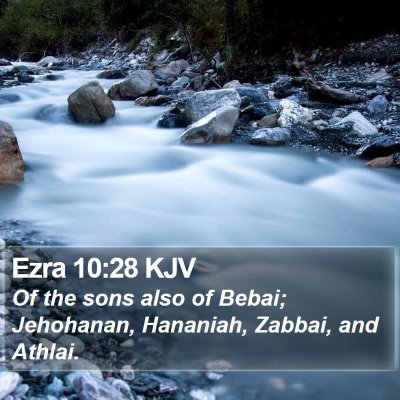 Ezra 10:28 KJV Bible Verse Image