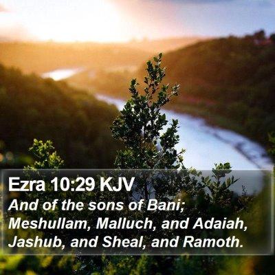 Ezra 10:29 KJV Bible Verse Image