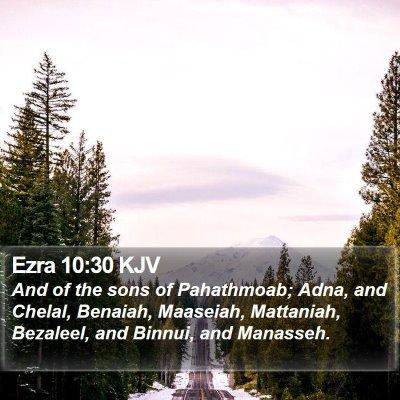 Ezra 10:30 KJV Bible Verse Image