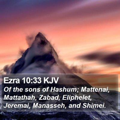 Ezra 10:33 KJV Bible Verse Image