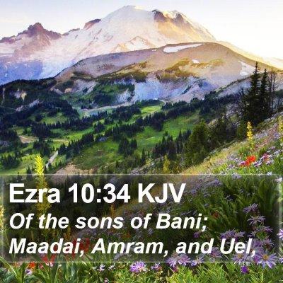 Ezra 10:34 KJV Bible Verse Image