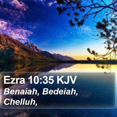 Ezra 10:35 KJV Bible Verse Image
