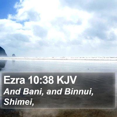 Ezra 10:38 KJV Bible Verse Image