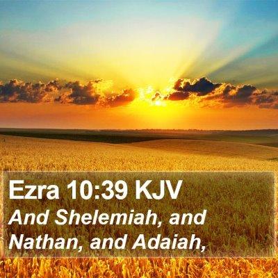 Ezra 10:39 KJV Bible Verse Image