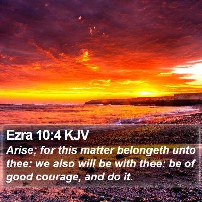 Ezra 10:4 KJV Bible Verse Image
