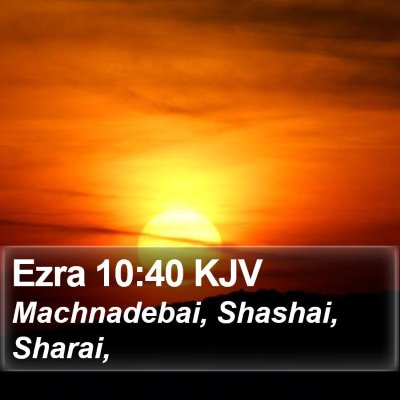Ezra 10:40 KJV Bible Verse Image