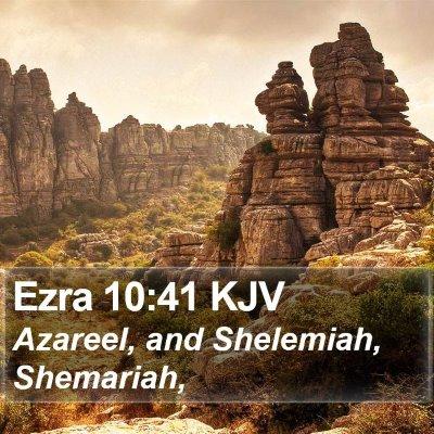 Ezra 10:41 KJV Bible Verse Image