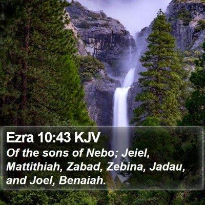Ezra 10:43 KJV Bible Verse Image