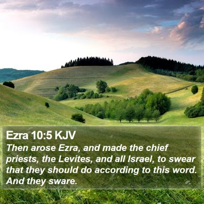 Ezra 10:5 KJV Bible Verse Image