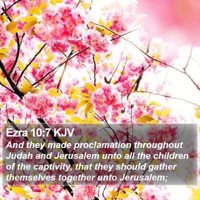 Ezra 10:7 KJV Bible Verse Image
