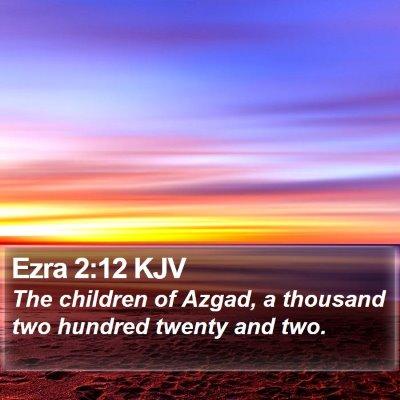 Ezra 2:12 KJV Bible Verse Image
