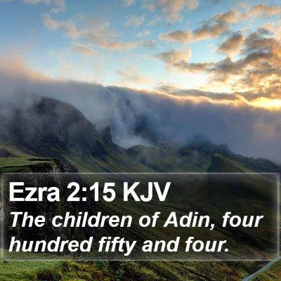 Ezra 2:15 KJV Bible Verse Image
