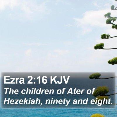 Ezra 2:16 KJV Bible Verse Image