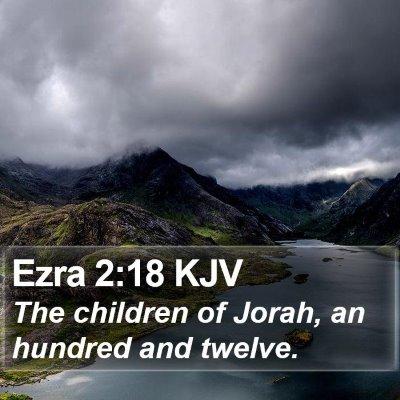 Ezra 2:18 KJV Bible Verse Image