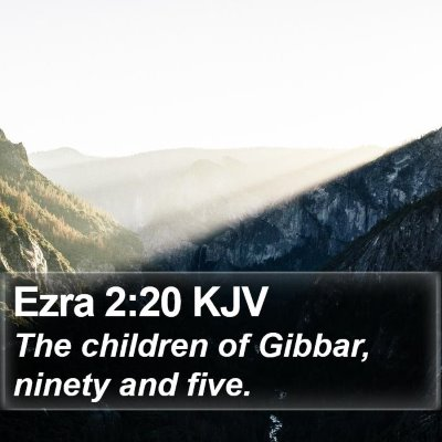 Ezra 2:20 KJV Bible Verse Image