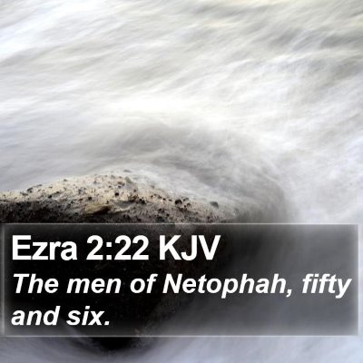 Ezra 2:22 KJV Bible Verse Image