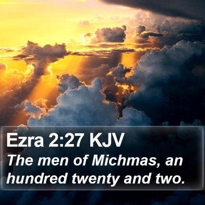 Ezra 2:27 KJV Bible Verse Image