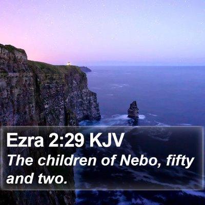 Ezra 2:29 KJV Bible Verse Image