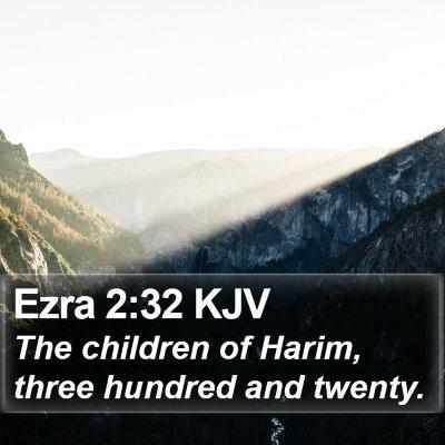 Ezra 2:32 KJV Bible Verse Image