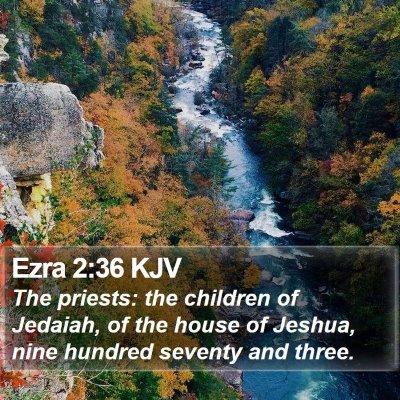Ezra 2:36 KJV Bible Verse Image