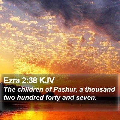 Ezra 2:38 KJV Bible Verse Image