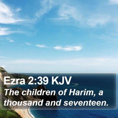 Ezra 2:39 KJV Bible Verse Image