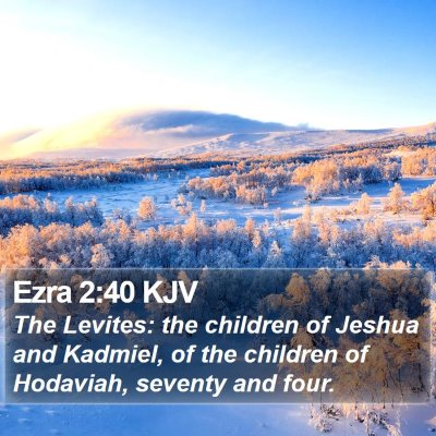 Ezra 2:40 KJV Bible Verse Image