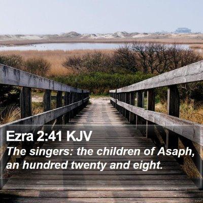 Ezra 2:41 KJV Bible Verse Image