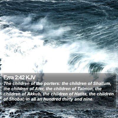 Ezra 2:42 KJV Bible Verse Image