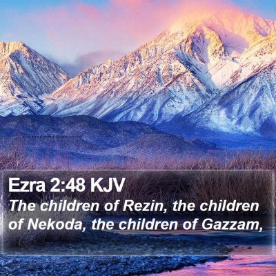 Ezra 2:48 KJV Bible Verse Image