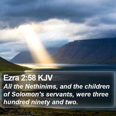 Ezra 2:58 KJV Bible Verse Image