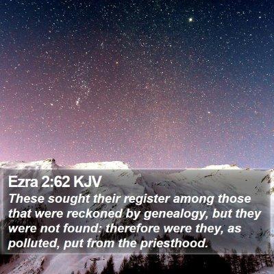 Ezra 2:62 KJV Bible Verse Image