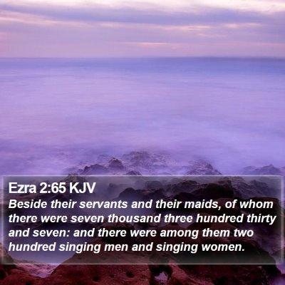 Ezra 2:65 KJV Bible Verse Image
