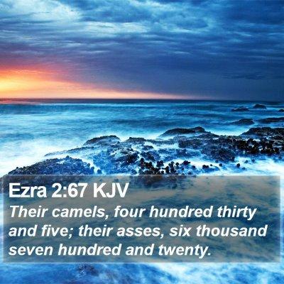 Ezra 2:67 KJV Bible Verse Image