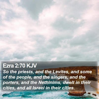 Ezra 2:70 KJV Bible Verse Image