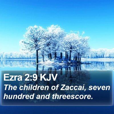 Ezra 2:9 KJV Bible Verse Image