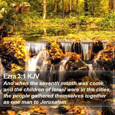 Ezra 3:1 KJV Bible Verse Image