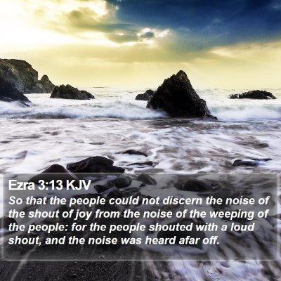 Ezra 3:13 KJV Bible Verse Image