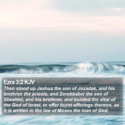 Ezra 3:2 KJV Bible Verse Image