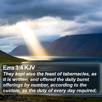 Ezra 3:4 KJV Bible Verse Image