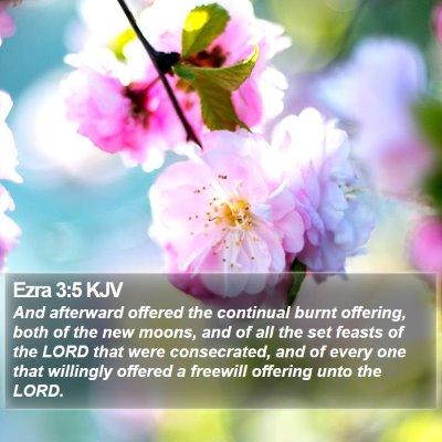 Ezra 3:5 KJV Bible Verse Image