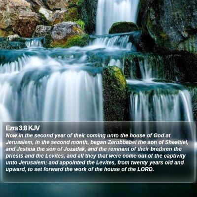 Ezra 3:8 KJV Bible Verse Image