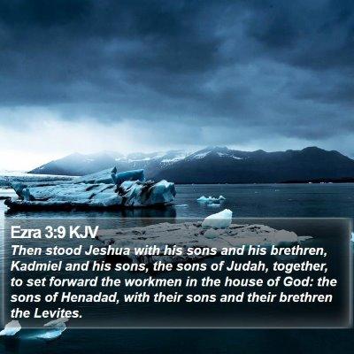 Ezra 3:9 KJV Bible Verse Image