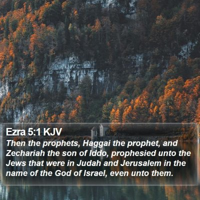 Ezra 5:1 KJV Bible Verse Image